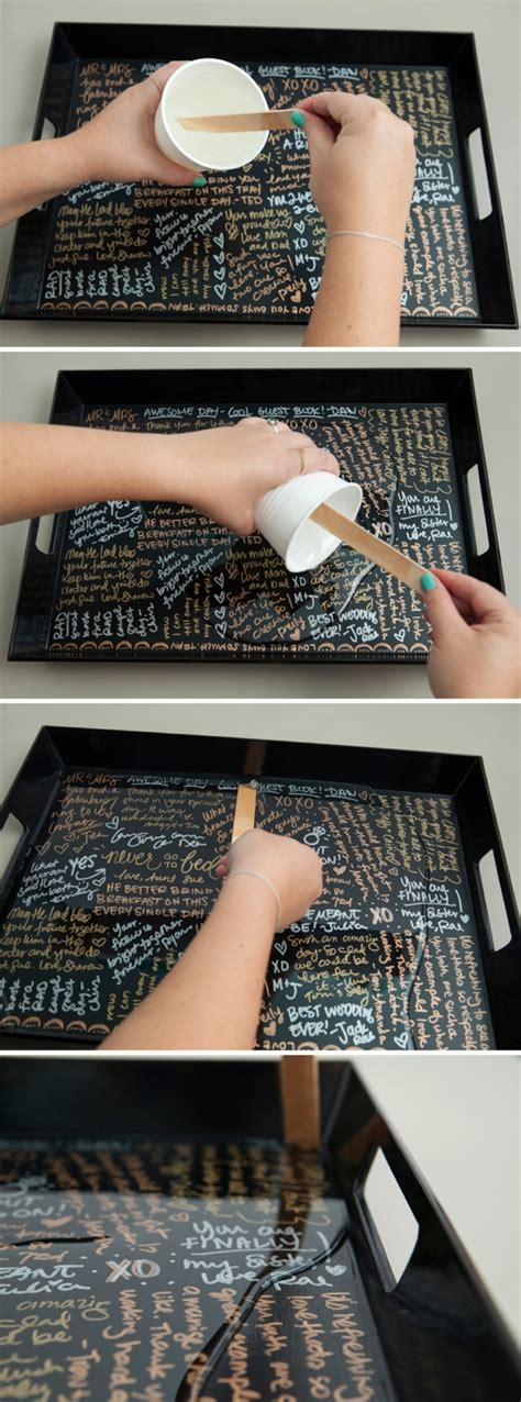 Wedding Guest Book Cover Diy by Make Your Own Resin Coated Guest Book Serving Tray