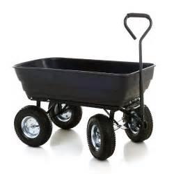 jardin promo chariot de jardin 4 roues cuve basculante