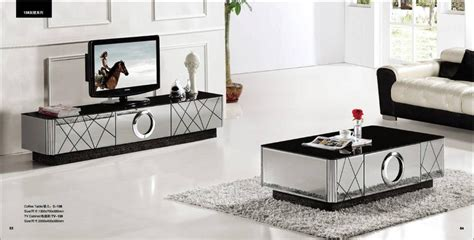 Grey Living Room Table Sets Modern Gray Mirror Modern Furniture Coffee Table And Tv
