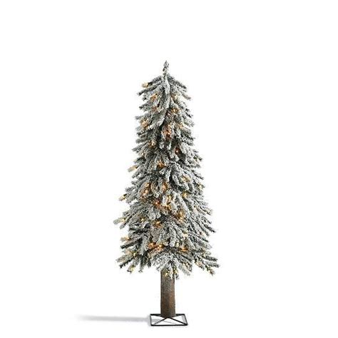 realistic rustic snow lighted pre lit alpine tree indoor