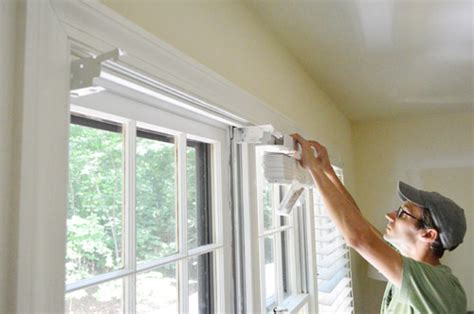 Home Depot Wood Shutters Interior by Installing White Faux Wood Window Blinds Young House Love