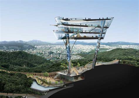 futuristic cloud city skyscraper could bring the dream of floating observatory korea building kyeonggido sungnam