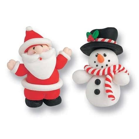 culpitt santa snowman christmas cake decorations