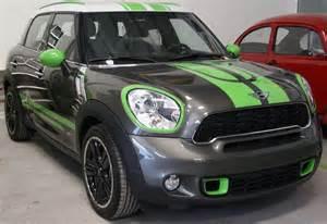 Mini Cooper Countryman Stripes Mini Countryman Grey Metallic And Atomic Green Stripe