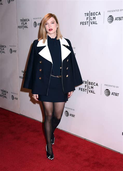 lea seydoux new york lea seydoux quot zoe quot premiere at tribeca film festival in nyc