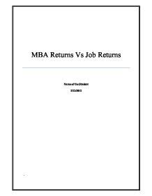 How Mba Add Value To Your Career by The Purpose Of This Paper Is To Analyze The Decision Of