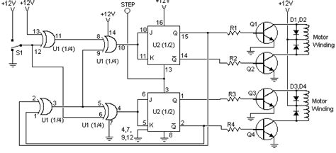how to build stepper motor controller circuit diagram