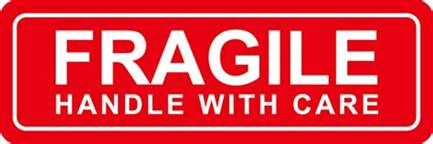 fragile handle with care stickers easy peel self adhesive protekgr