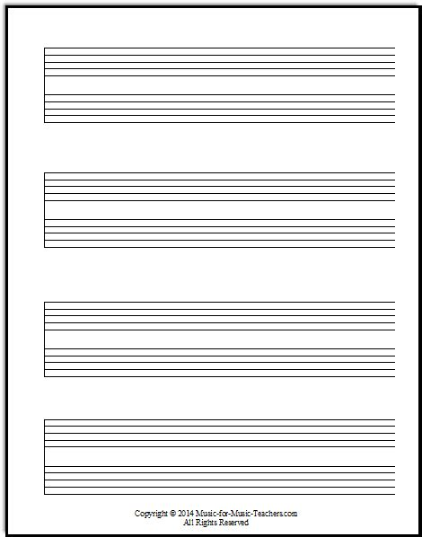 free printable staff paper with bar lines staff paper pdfs download free staff paper