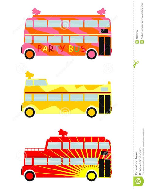 party bus clipart party bus stock vector image 40501782