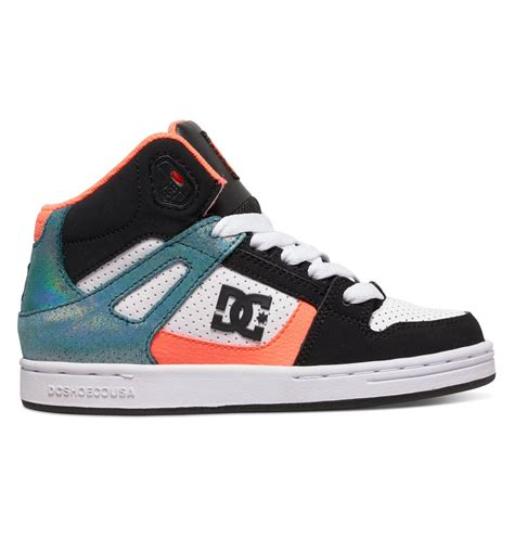 dc shoes kid s 8 16 rebound se high top shoes 888327674414 dc shoes