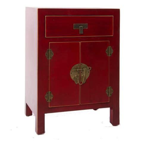comodini cinesi comodino orientale cinese rosso mobili orientali