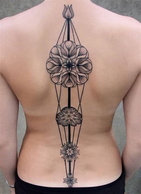unique flower tattoos 50 amazing spine for golfian