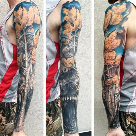 badass sleeve tattoos for men 50 fall tattoos for autumn ink design ideas