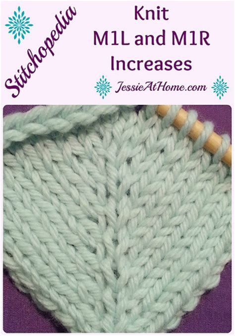 knitting make one right stitchopedia m1r and m1l tutorial with at