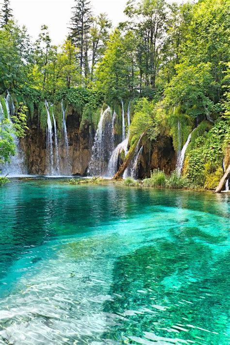 beautiful waterfalls beautiful waterfall in forest croatia wanderlust