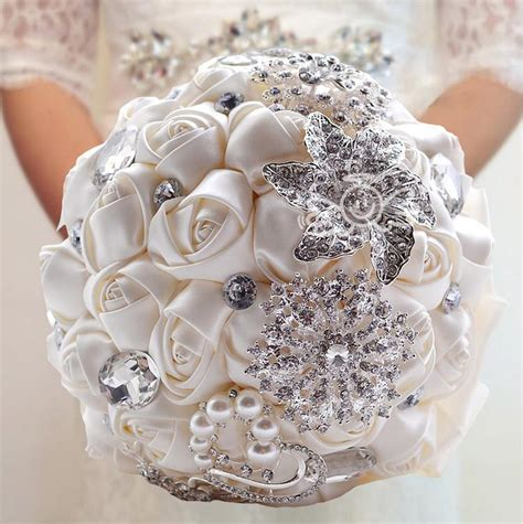wedding bouquet jewelry luxury pristian zouboutin rhinestone