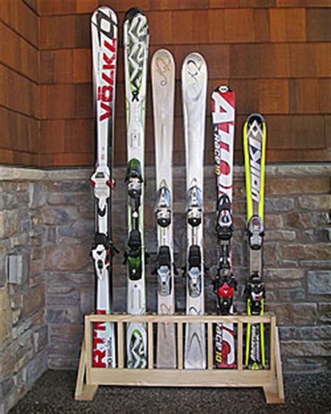 Freestanding Ski Rack by Ski Storage Cozywinters