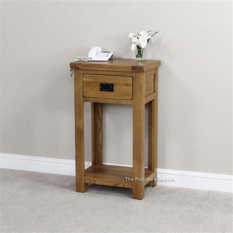 Small Telephone Table With Drawer by Rustic Oak 1 Drawer Small Table Compact Telephone