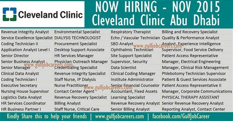 Cleveland Clinic Mba Salary by New Vacancies At Cleveland Clinic Abu Dhabi