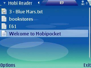 mobipocket reader palm os mobipocket now supports symbian 9