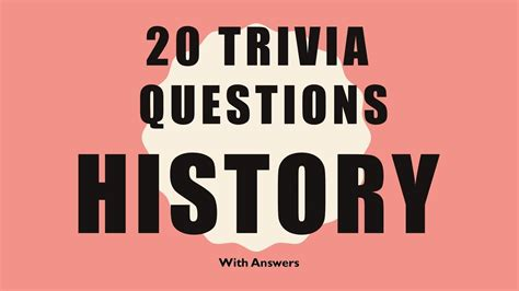 quiz questions youtube 20 trivia questions history no 1 youtube