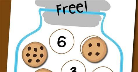cookie jar number matching free printable totschooling