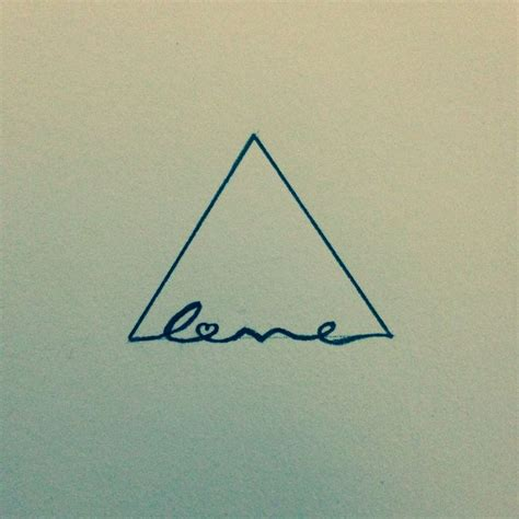 love triangle tattoo idea meaning strong foundation