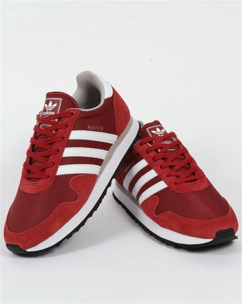 adidas haven adidas haven trainers mystery red white originals shoes