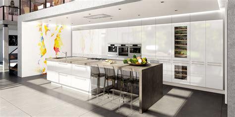 cuisine blanche avec ilot central cuisine moderne avec ilot central
