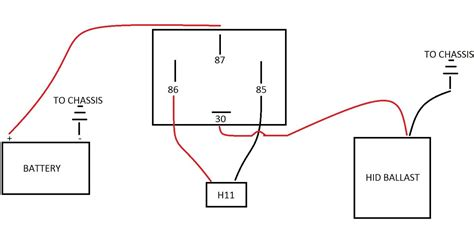 bi hid conversion kit wiring diagram hid relay wiring