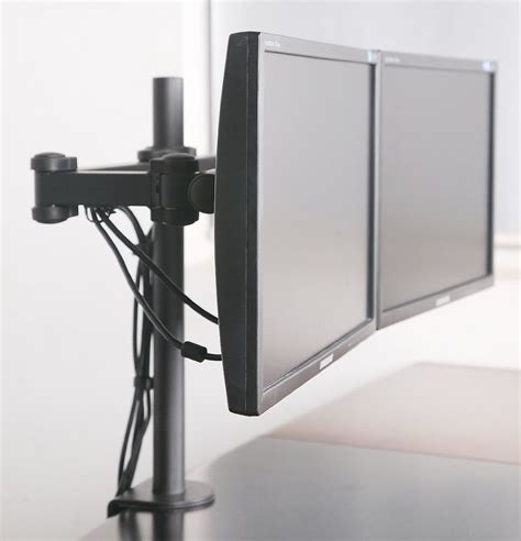 Dual Monitor Desk Mount Computer Flat Screen Two Lcd Stand Monitor Desk Stand