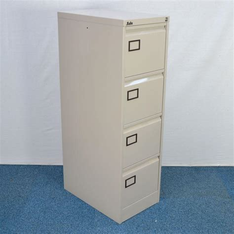 Silverline Filing Cabinet Silverline Light Grey A4 Filing Cabinet