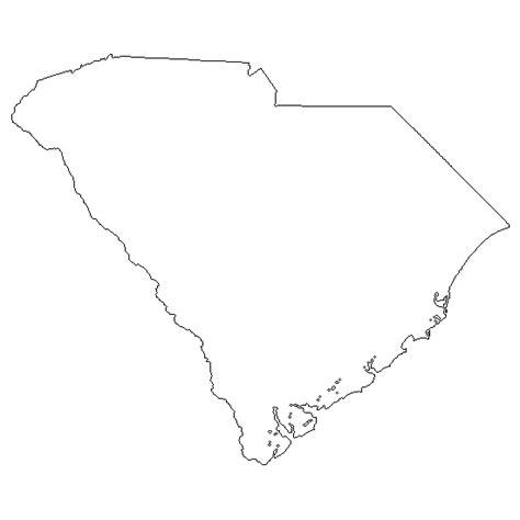 South Carolina Map Outline by Go Printables