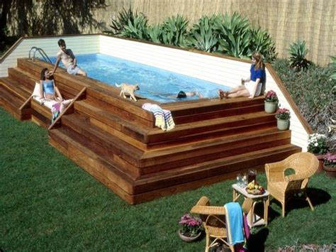personal lap pool portable lap pools above ground backyard design ideas