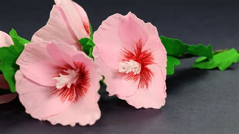 Steps For Paper Flowers - how to make paper flowers step by step hollyhock mallow