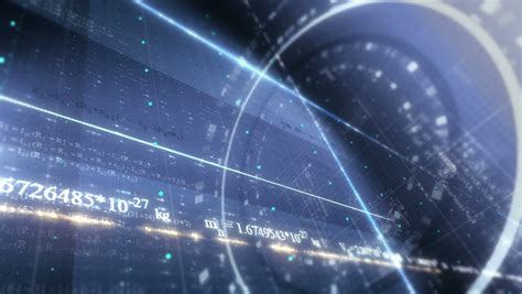 Blue Print Symbols science background stock footage video shutterstock