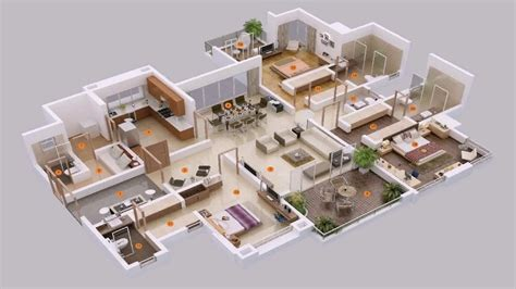 5 bedroom house plans 3d