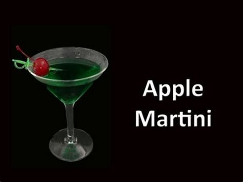 apple martini with apple martini cocktail drink recipe youtube