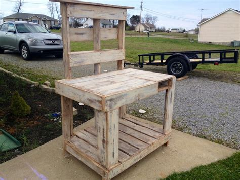 potting bench made from pallets potting bench made from pallets uses for pallets pinterest