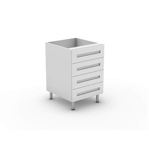 Flat Pack Kitchen Drawers by 4 Equal Drawers Shaker