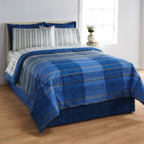 blue bed set essential home complete bed set gradiant blue