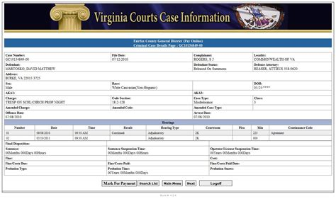 Virginia Judicary Search Courts Va Driverlayer Search Engine