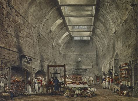 history in the making a showpiece kitchen castle design file windsor castle kitchen by james stephanoff 1818