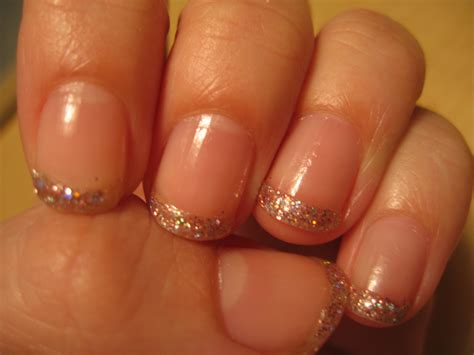easy nail art using glitter nail art glitter french manicure pancho and leftey