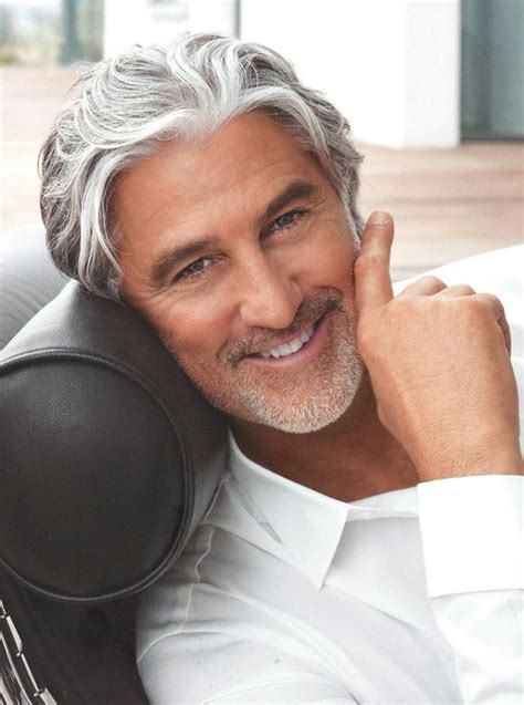 good looking men with grey hair locke management andy lucchesi