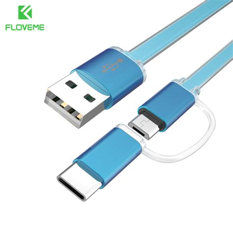 Cable Usb 2 In 1 Micro Usb And Lighting For Charger And Data Transfer 1m phone usb cable 3 0 micro usb type c 2 in 1 cables for samsung huawei sony xiaomi android