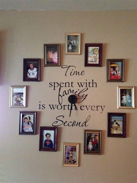 family photo wall clock home ideas pinterest