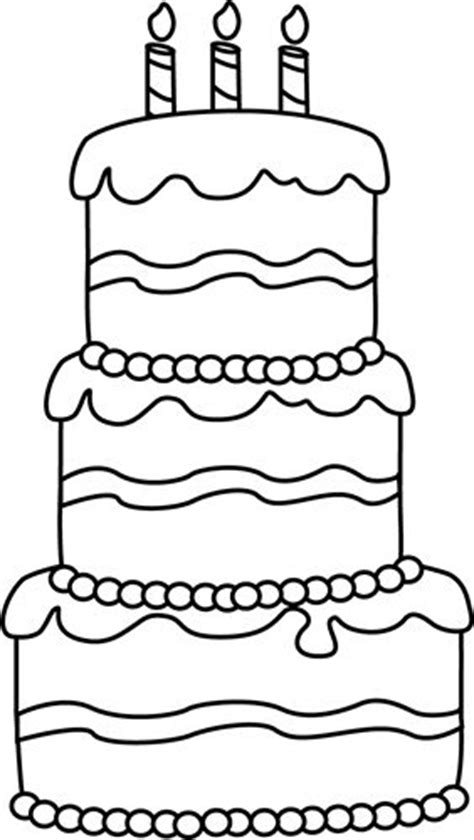 large birthday cake coloring page black and white big birthday cake thema feest allerlei