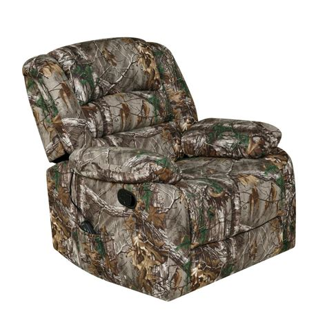 realtree camouflage rocker recliner relaxzen green rocker recliner with heat massage usb